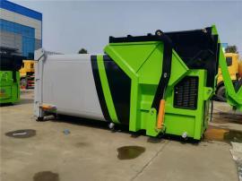 联体移动式压缩垃圾箱|垃圾站 8方10方12方14方压缩垃圾中转站