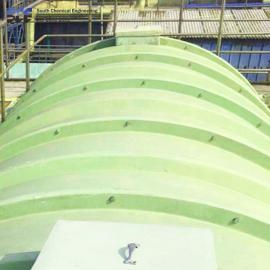 南化 玻璃钢废水池盖板 集气罩 废水池加盖