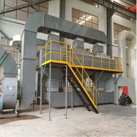 冀华环保生产废气吸附装置处理有机废气5万风量催化燃烧