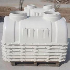 防渗漏玻璃钢模压化粪池环保污水处理池一体式化粪池