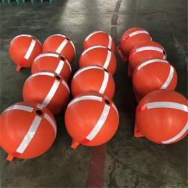 水上聚乙烯耐老化塑料pe浮球易串联浮球
