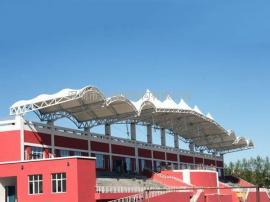 体育场张拉膜车棚张拉膜膜结构景观棚制作