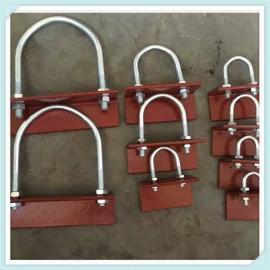 A2U型管夹 A2U型管卡带角铁 A7螺栓管夹 A5双螺栓管夹