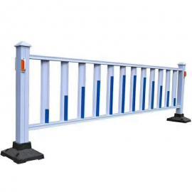 蓝白相间市政护栏网现货 市政护栏悬挂广告 锌钢护栏网