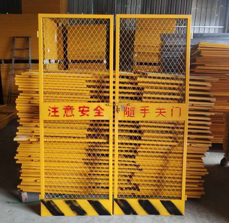 莱邦现货电梯门 施工电梯防护门 施工电梯安全防护门规格尺寸