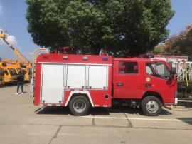 适合社区的小型双排1吨水罐消防车