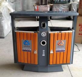 易顺钢木垃圾桶定制 分类垃圾桶生产、加工
