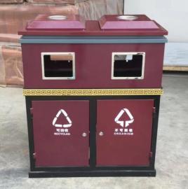 易顺不锈钢垃圾桶定做 钢木垃圾桶生产加工