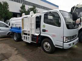 专业生产5方挂桶式侧装压缩垃圾车 东风侧装挂桶压缩垃圾车