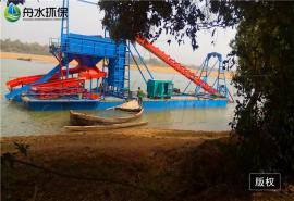 采金船的各个组成结构 舟水鼓动溜槽 优质高效率淘金船