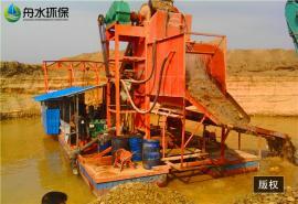 挖沙淘金船不同工序配置的��缺�c 沾金草溜槽 好用的采金�O��
