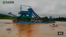 射吸式淘金船工作原理及组成 挖沙船造价 取金鼓动溜槽