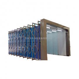 移动式伸缩喷漆房 配置可伸缩式喷漆房
