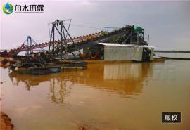 溜槽式挖沙淘金船的组成 舟水定做取金船 鼓动溜槽定做加工