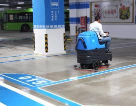 商场物业保洁用驾驶式全自动拖地机容恩R-QQ