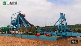 淘金船的基本��造�c�x金工�流程 砂金�C械 高回收率鼓�恿锊�