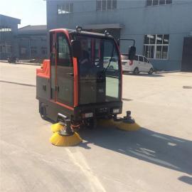 工厂大量灰尘清扫用大型全封闭式电动扫地车QS8