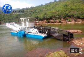 水葫芦打捞船 前收前卸式自动水域清漂船 全自动割草船