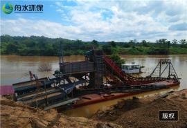 挖泥船的日常维护应该注意的事项 挖沙船制造 舟水淘金鼓动溜槽