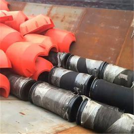 河道疏浚4寸管道两半片螺栓固定高强度大浮力浮筒