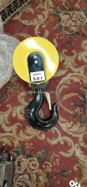 诺威中原圣起纽科伦单滑轮5吨欧式吊钩,配用钢丝绳直径11mm
