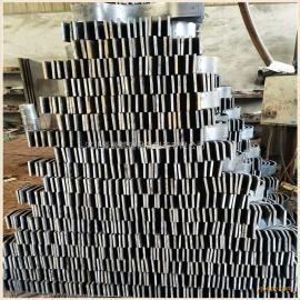 西北院D3型碳钢材质双螺栓管夹 电厂附件双螺栓保冷管夹大量库存