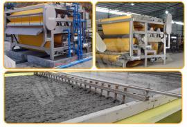 泥浆带式浓缩过滤设备 洗土包砂泥浆脱水机 多功能带式压滤机