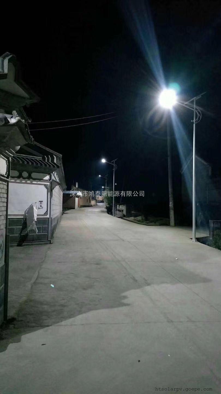 鸿泰 50W太阳能路灯 6米农村道路LED路灯