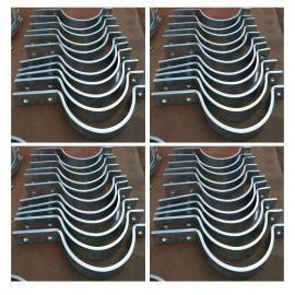 102 三孔管夹 合金材质的三螺栓管夹 管夹