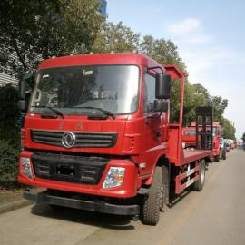 东风平板运输车 10-15吨挖机平板运输车