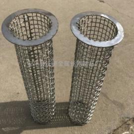 304不锈钢冲孔板过滤筒 不锈钢法兰过滤筒 不锈钢通管过滤筒