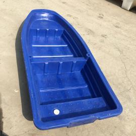 华社新款2.5米方头塑料渔船河道清理船双层牛筋船