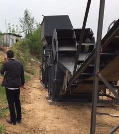 双排洗砂机 小型洗砂机 移动方便 送货上门包安装