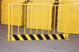 安平现货红白相间/黑黄相间竖管基坑临边护栏 基坑临边防护围挡