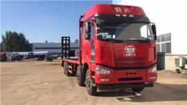 解放J6前四后八平板运输车锡柴350马力拉三十五吨可分期