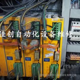 梳棉机BAUMULLER变频器上电亮红灯故障维修