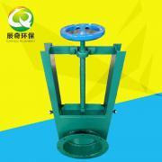 辰奇环保方形插板阀圆形插板阀碳钢手动插板阀卸灰阀可定制