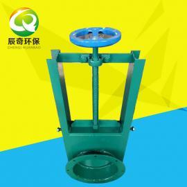 辰奇环保 插板阀 DN300插板阀 手动电动气动方口圆口插板阀