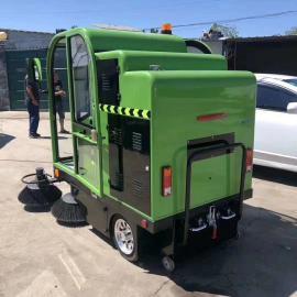定制驾驶室纯电动扫地车 户外吸尘小型电动扫地车 道路清扫车