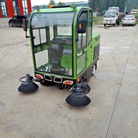5刷盘纯电动清扫车 驾驶室电动扫地车 厂区清洁专用环卫扫地车