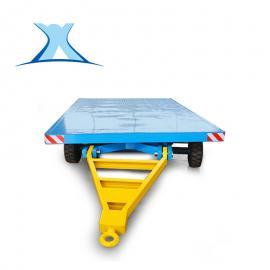 平板拖车定制重型集装箱搬运牵引四轮平板车