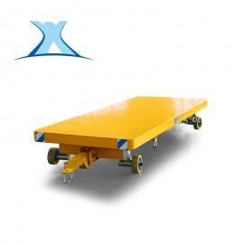 百特智能无轨胶轮平台拖车叉车牵引平板拖车