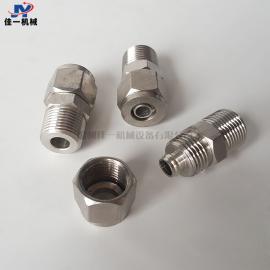 不锈钢快拧外螺纹直通接头 PU管外螺纹快拧接头 PU软管锁母接头