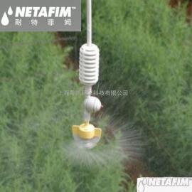 耐特菲姆NETAFIM宾耐特无桥架Spinnet360旋转倒挂园林网棚微喷头