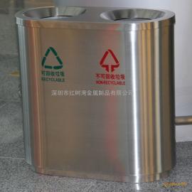 红树湾室内机场两分类三分类不锈钢垃圾桶