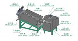 新型环保叠螺机 叠螺式污泥处理机