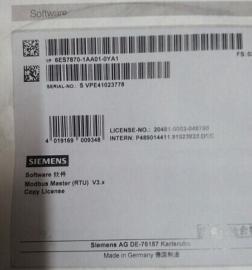 西�T子6ES7 870-1AA01-0YA0 SIMATIC S7,MODBUS Master V3.1