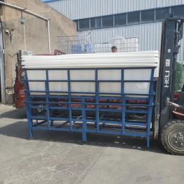 纺织厂定制款K2000L大型塑料方箱推布车牛筋桶