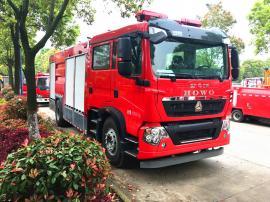 JDF5190GXFGP70/Z型豪沃T5G干粉泡沫联用消防车报价