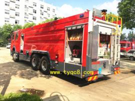 有CCC认证的重型豪沃16吨泡沫消防车报价